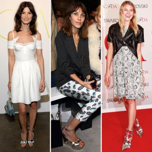 Celebrities-Silver-Shoes
